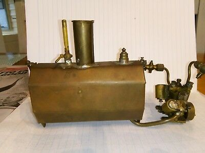 Racing tether boat engine with flash steam boiler vee twin engine