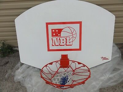 New:  Super Action Nbl Basket Ball Board With Fold Up Ring.