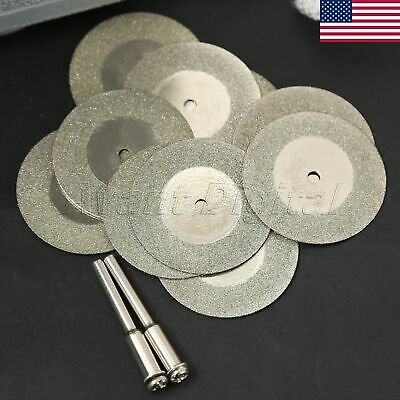 35mm Diamond Cutting Wheel Disc Cut Off Jade Stone Glass Metal Rotary Tool US