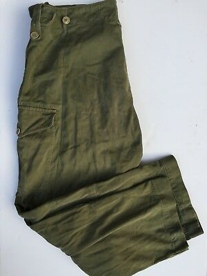 British Army 1953 Dated Combat Trousers Sateen. Size 6 Used