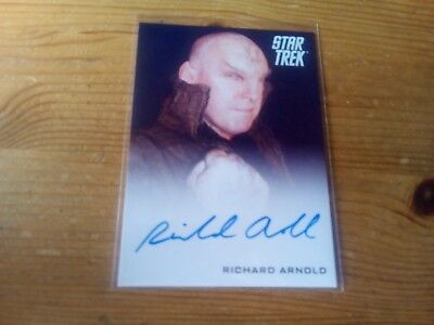 Star Trek 2014 Movies Autograph Card Of Richard Arnold