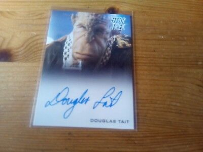 Star Trek 2014 Movies Autograph Card Of Douglas Tait