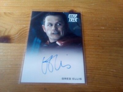 Star Trek 2014 Movies Autograph Card Of Greg Ellis