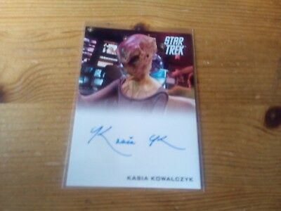 Star Trek 2014 Movies Autograph Card Of Kasia Kowalczyk