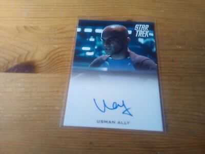 Star Trek 2014 Movies Autograph Card Of Usman Ally