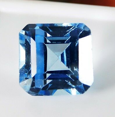 14.20 Cts Natural Certified Genuine Aquamarine Radiant Cut Loose gemstone. 3547