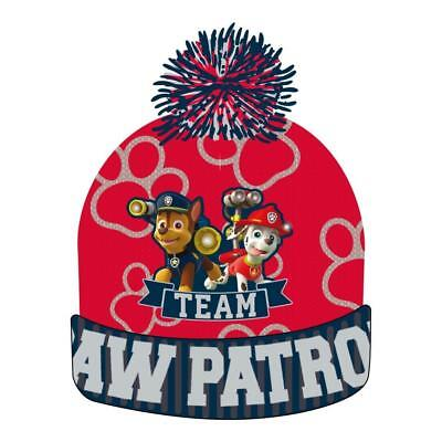 e33f07b8e4a Boys Girls Kids Official Paw Patrol Winter Bobble Hat One Size 4 - 8 Years