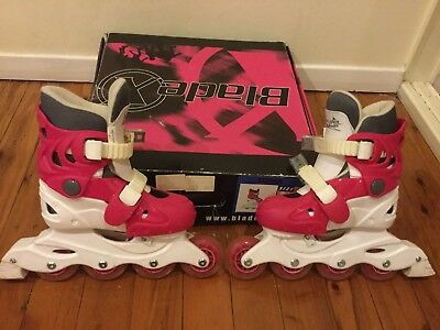 Girls Adjustable Roller Skates. Used On One Occasion Only.