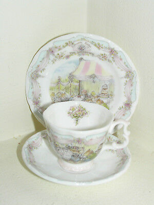 Brambly Hedge Royal Doulton Miniature Wedding Cup Saucer & Plate Trio  1St Qty