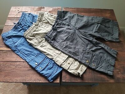 Boys Old Navy Cargo Shorts, Lot of 3 - Blue/Grey/Khaki - Size Large (10-12)