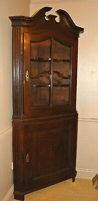 Antique C18th Dutch Oak Corner Cupboard