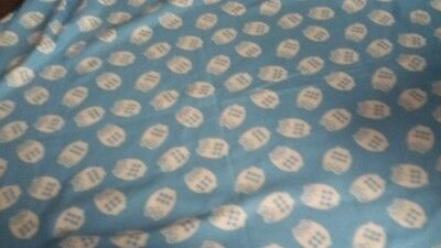 Blue With Owls All Over Baby Blanket 50 x 60