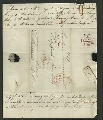 A Free Post Entire from London to Forres Scotland, 19th Feb 1827, Average used.