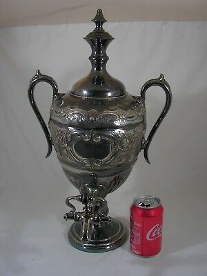 Antique Victorian Ornate Silver Plated Samovar Tea Urn