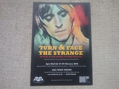 David Bowie, Mick Ronson, The Siders From Mars, Advertising Flyer.