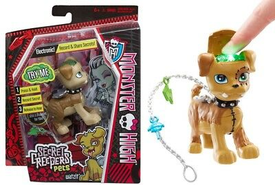 Monster High Secret Creepers ELECTRONIC Pets Record & Share Secrets Watzit Dog