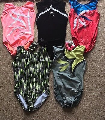 Collection Of Gymnastic Leotards And Shorts