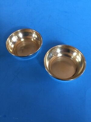 Lot of 2 WH&CO STERLING Silver Salt Serving Cellars w Gold Wash Interior NM12g