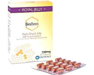 BioBees Fresh Royal Jelly 30 Capsules Best Before End:12/2018