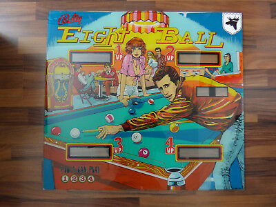 Eight Ball Bally Flipperscheibe Pinball Backglass