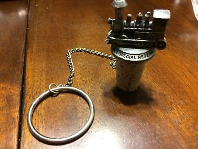1885 Special Reserve Canadian Mist Pewter Train Locomotive Pewter Bottle Stopper