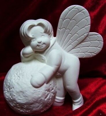 Ceramic Bisque Ready to Paint Snowball Fairy
