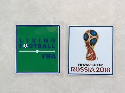 Set Of 2018 Russia World Cup PVC Patch Badge Parche Toppa Pièce Flicken Remendo