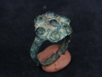 Ancient Bronze Ring Bactrian 300 BC  #GL1769