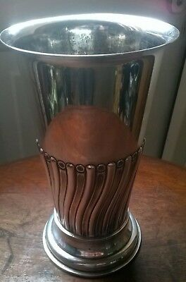 Mappin & Webb, silver plated vase