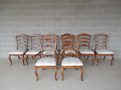Set Of 8 Ethan Allen Country French Ladder Back Chairs 26 6310 Finish 236