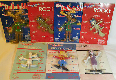 Rocky Bullwinkle ~ Mr. Peabody ~ Dudley Do Right ~ Natasha Bendable Figure Doll