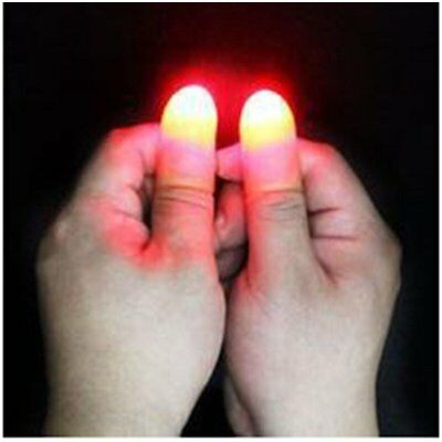 5X(2Pcs Party Magic Light Up Thumbs Fingers Trick Appearing Light Close Up C2U1)