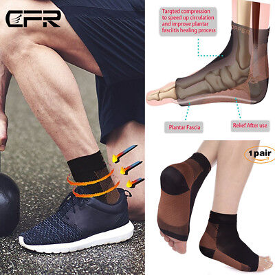 8ec282f801 Copper Compression Foot Sleeve Ankle Support Socks Plantar Fasciitis Pain  Relief