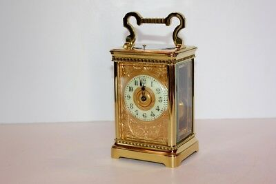 Superb Antique Repeating Carriage Clock