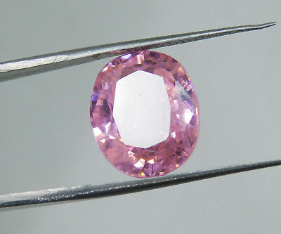 Kunzite natural 16.05Cts oval Cut Translucent Pink Untreated Loose Gemstone 1686