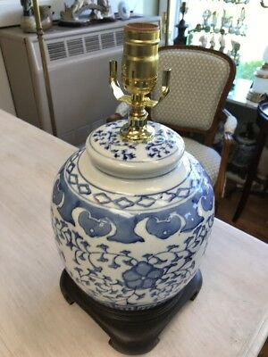 Blue and White Oriental Vase Table Lamp