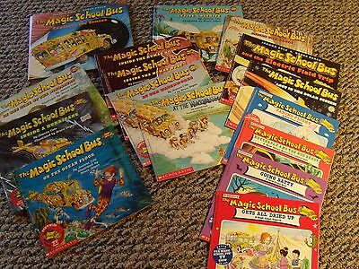 Gently Used Lot of Magic School Bus Books Hard and Soft Back 14 in Lot