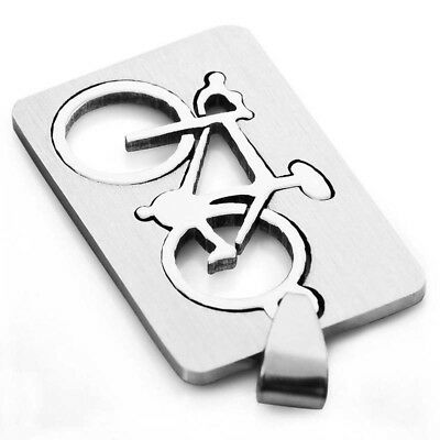 5X(Stainless Steel Men's Bike Pendant Necklace, 58cm silver chain I2Z8)