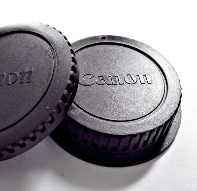 "New Canon BODY/ REAR LENS CAP SET-EF LENS & EOS CAMERA ""Fast U.S.A. shipping"""