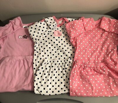 Infant Baby Girl Gowns Size 0-6 Months