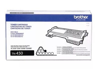 Brother TN450 High Yield Toner Cartridge OEM TN 450