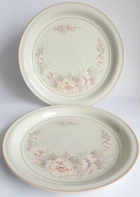 Vintage Denby 'Tivoli' Dinner Plates x 2, Designed by Claire Bernard in1982.