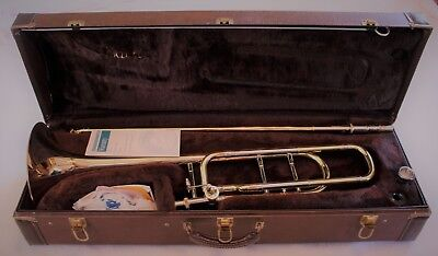 Bach 42BOG Trombone w/ F Attachment and Goldbrass Bell, Excellent Condition