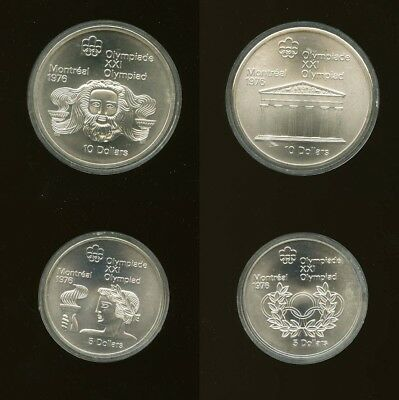 1976 Canada Montreal Olympics Games 4 Coin Silver Proof Set Series II