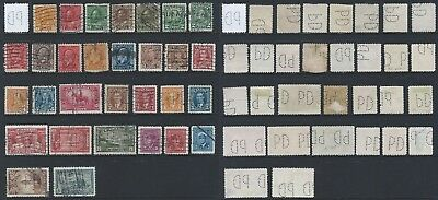 Canada P5-PD: PARKE, DAVIS & CO (MONTREAL QC) 30 Different Die/Face Perfins RF:G