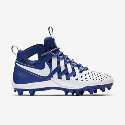 Nike Huarache V LAX Mid Lacrosse Cleats Blue Size 13 New Football DEAL SALE