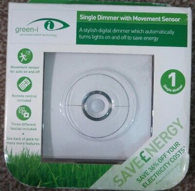 Green-I GIPDC Stylish Dimmer Switch With Movement Sensor