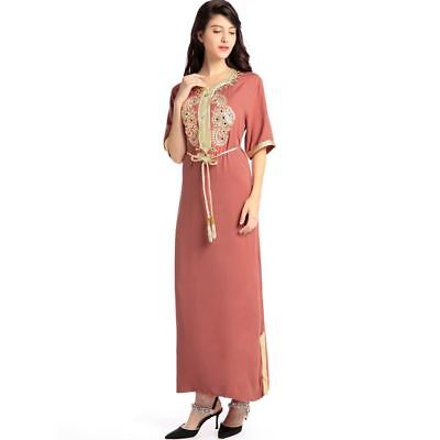 Muslim Women Kaftan Caftan Moroccan Long Abaya Turkish Hijab Style Dress