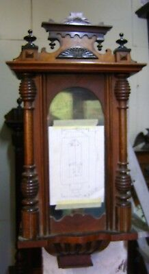 Antique Vienna Wall Clock Case.