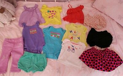 Lot Of 12 Baby Girls Clothing Items: 12-18 Months cute baby girl summer fall